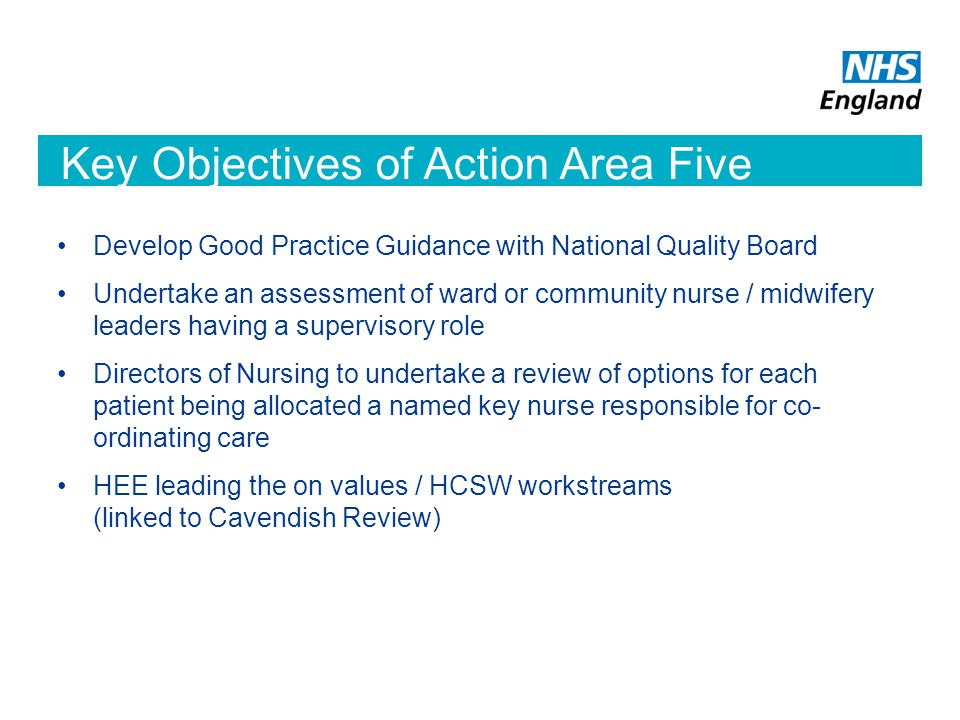 Key Objectives of Action Area Five