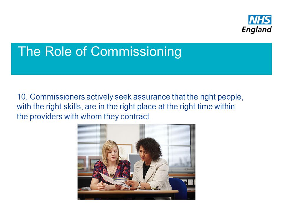 The Role of Commissioning