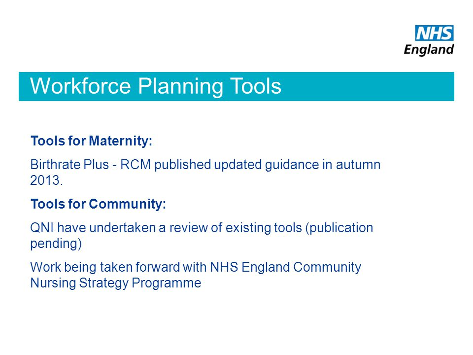 Workforce Planning Tools