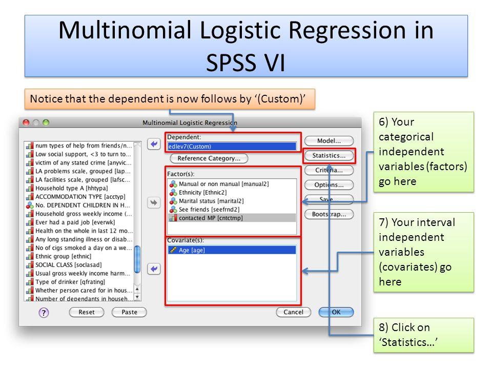 Multinomial Logistic Regression in SPSS VI