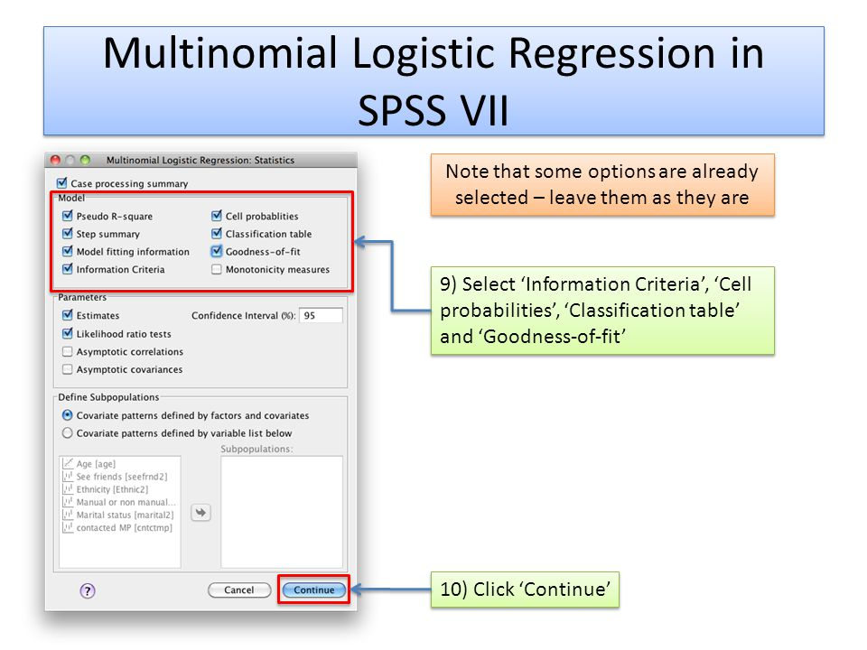 Multinomial Logistic Regression in SPSS VII