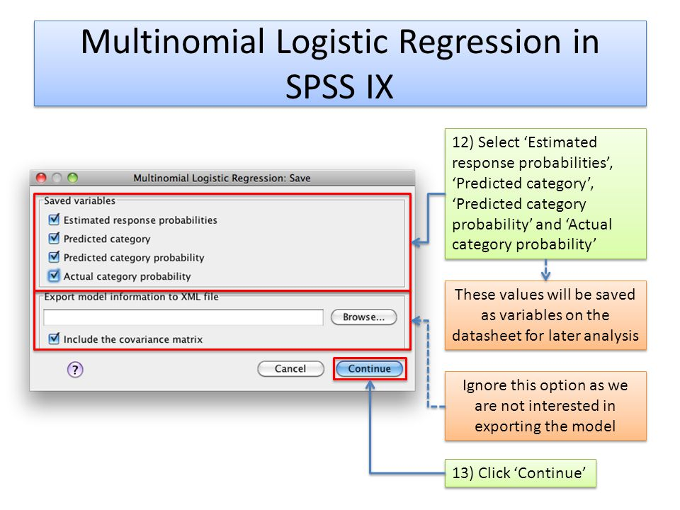 Multinomial Logistic Regression in SPSS IX