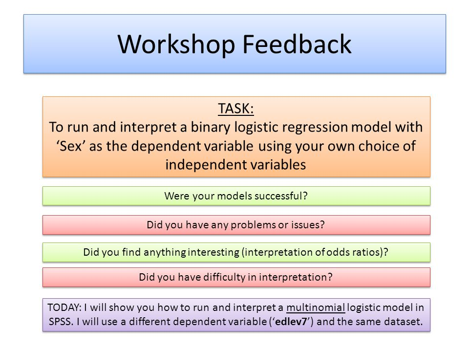 Workshop Feedback TASK: