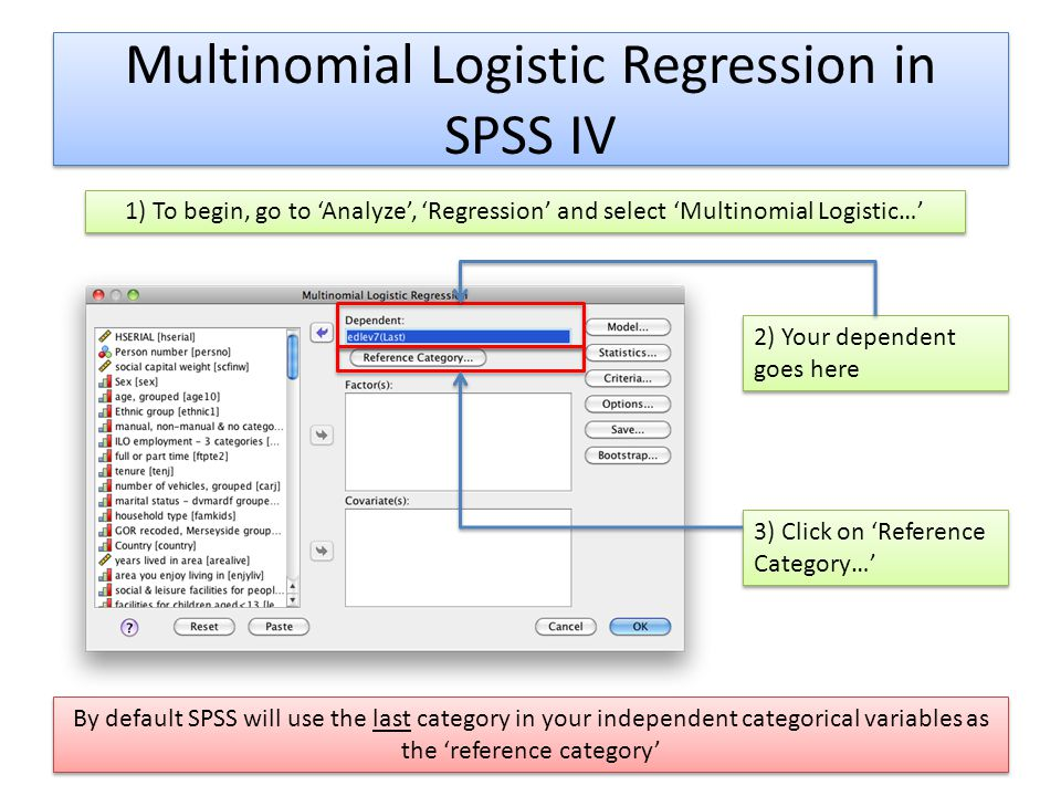 Multinomial Logistic Regression in SPSS IV
