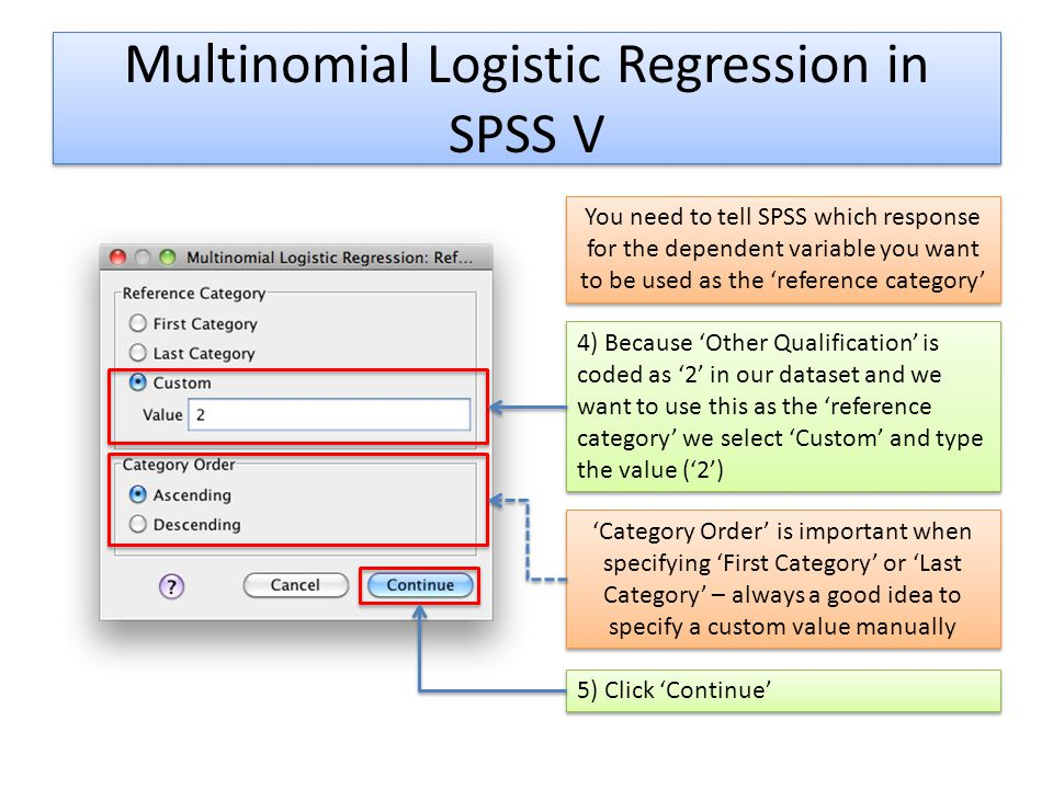 Multinomial Logistic Regression in SPSS V