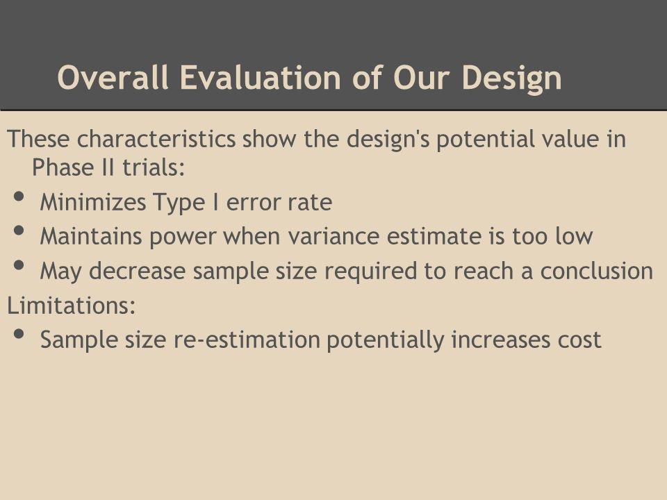 Overall Evaluation of Our Design