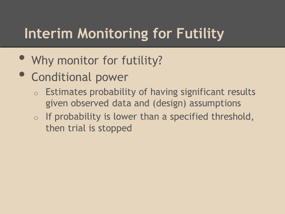 Interim Monitoring for Futility