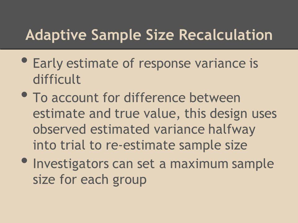 Adaptive Sample Size Recalculation