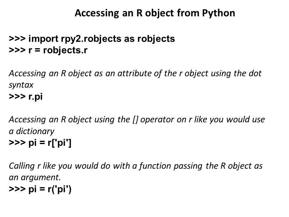 Accessing an R object from Python