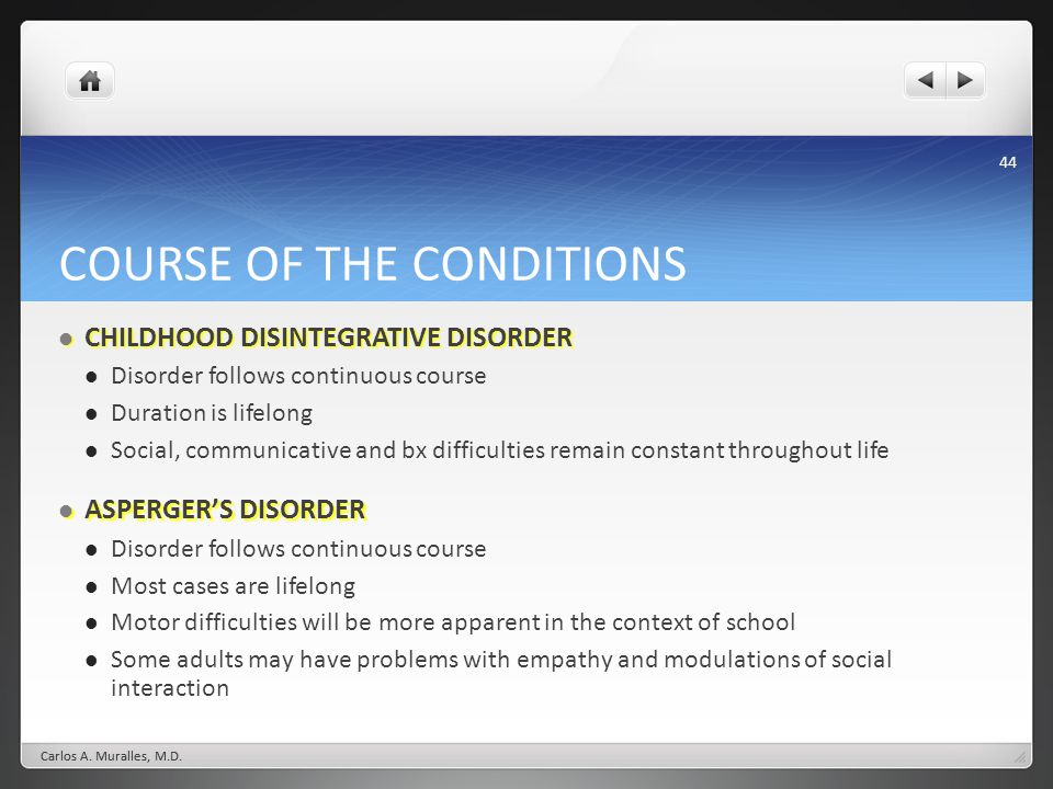 COURSE OF THE CONDITIONS