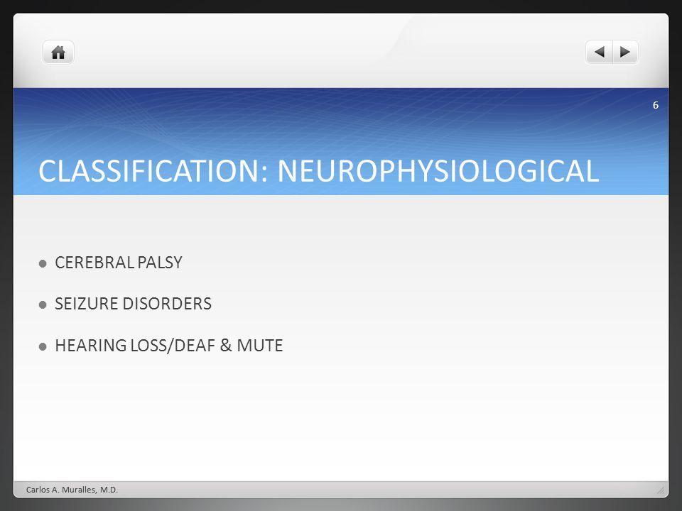 CLASSIFICATION: NEUROPHYSIOLOGICAL