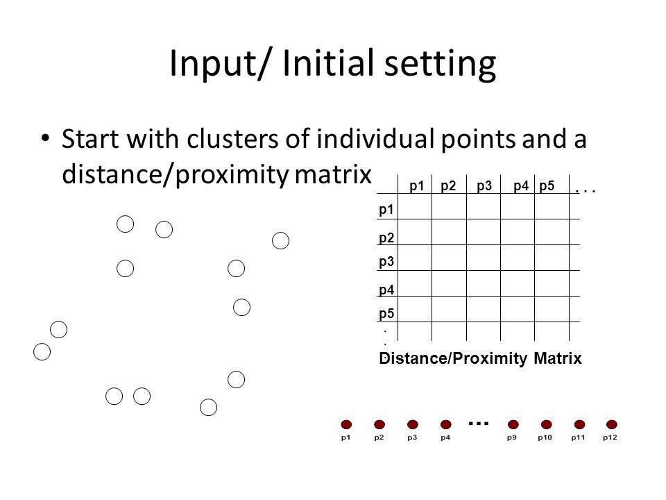 Input/ Initial setting
