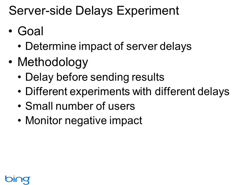 Server-side Delays Experiment