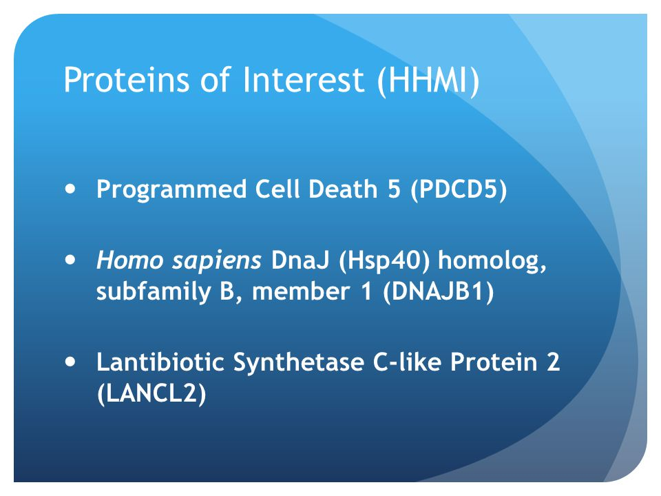Proteins of Interest (HHMI)