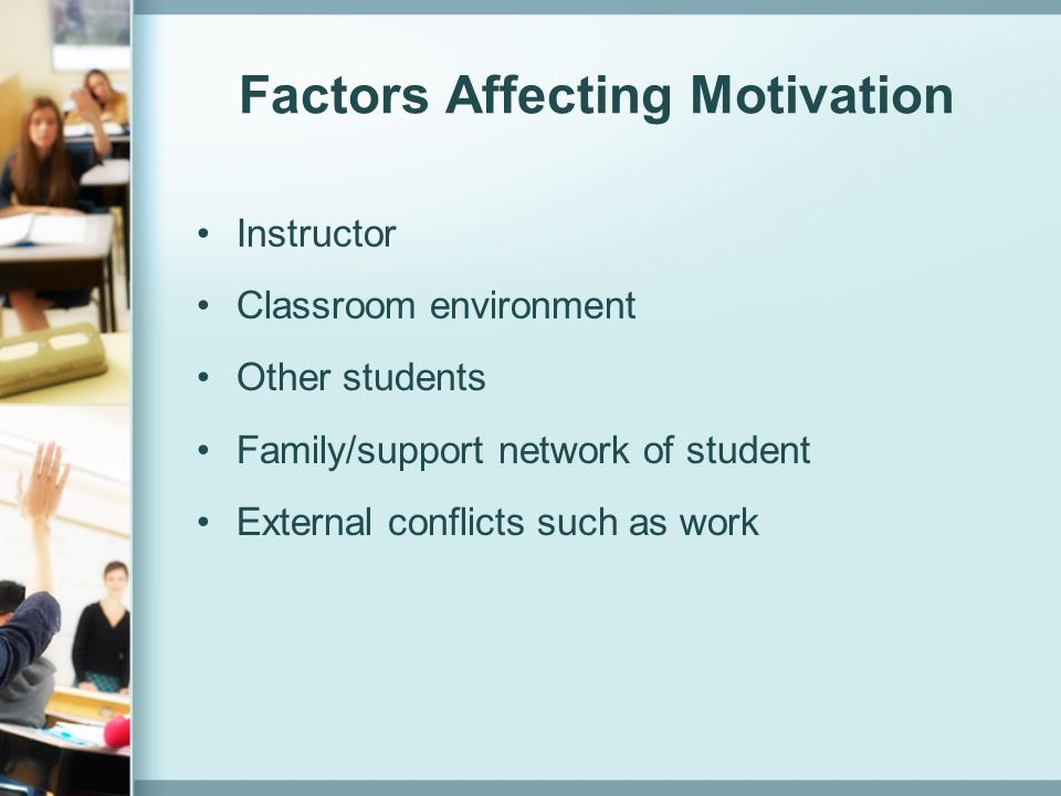 Factors Affecting Motivation