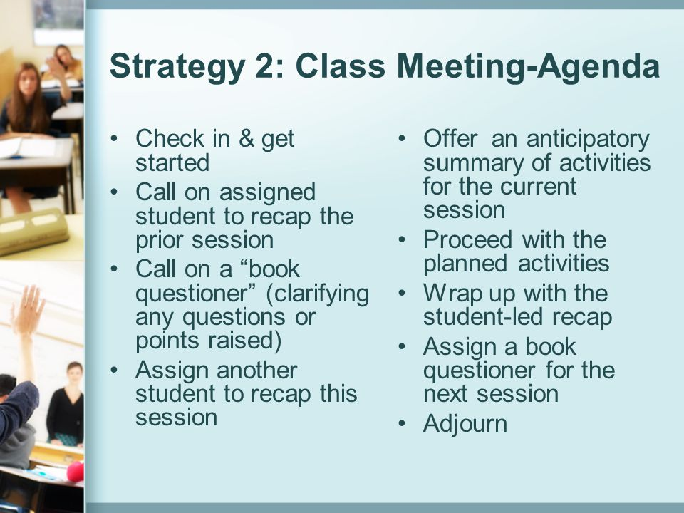 Strategy 2: Class Meeting-Agenda