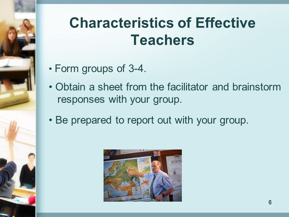 Characteristics of Effective Teachers