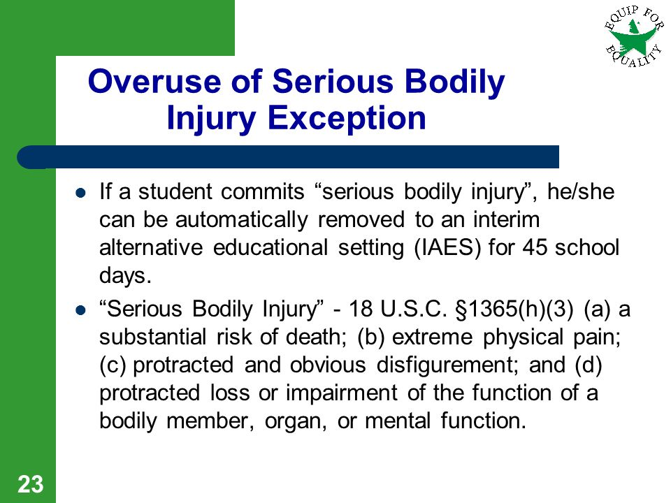 Overuse of Serious Bodily Injury Exception
