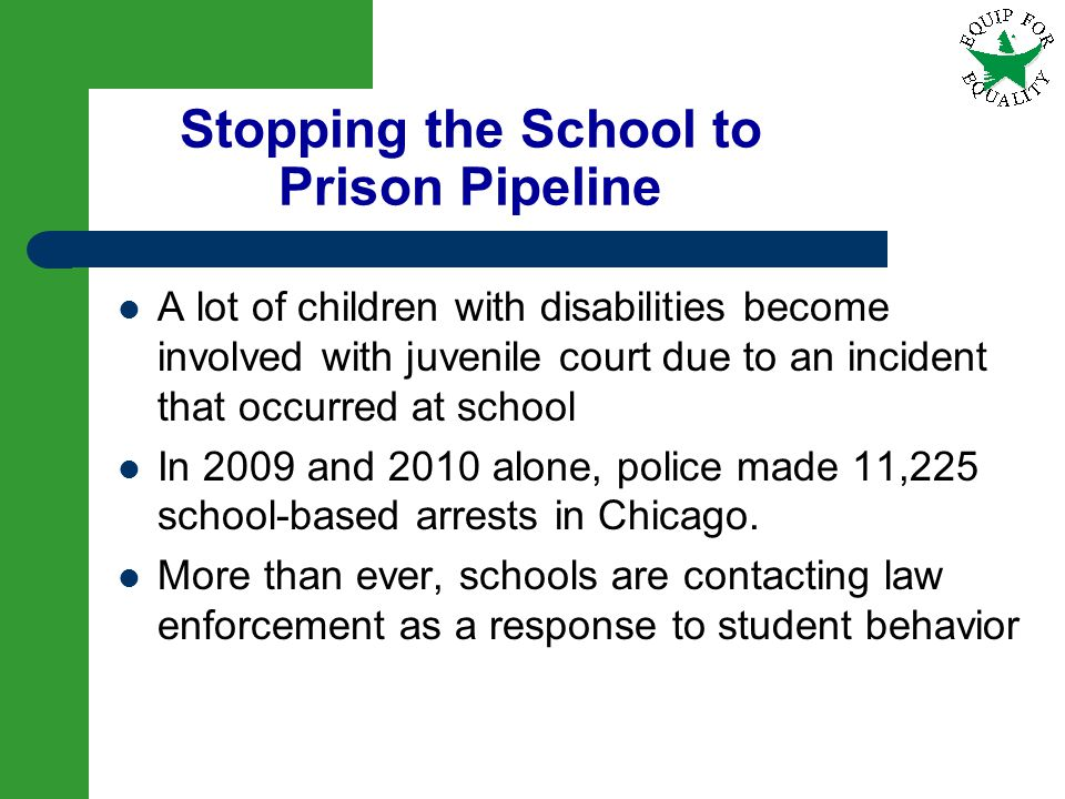 Stopping the School to Prison Pipeline