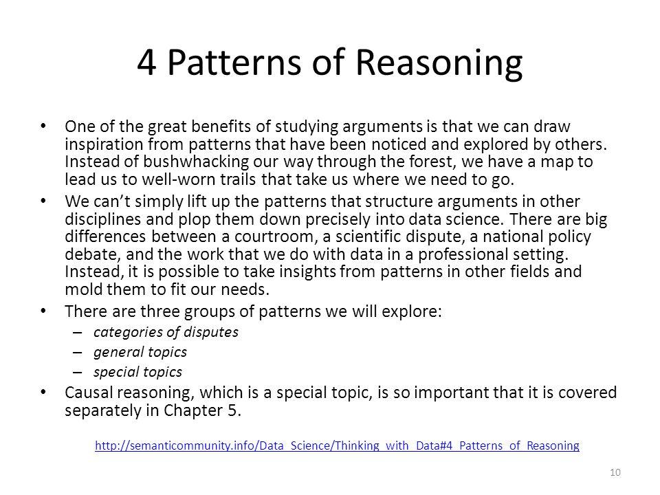 4 Patterns of Reasoning