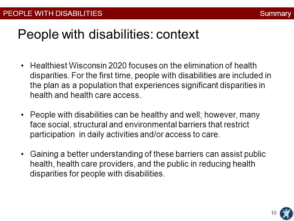 People with disabilities: context