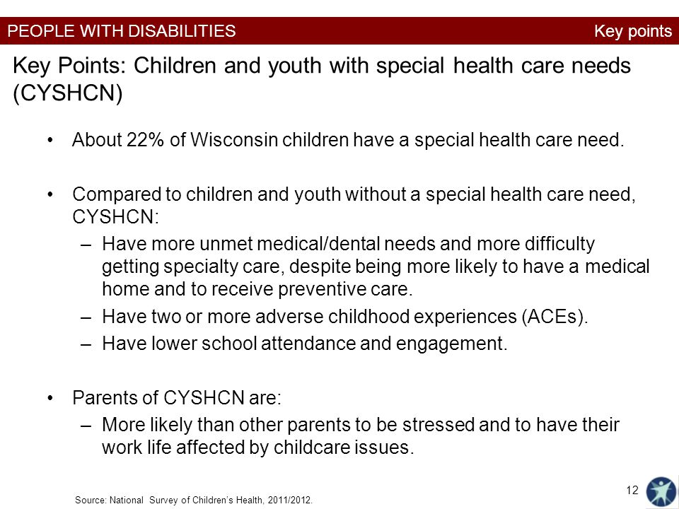 Key Points: Children and youth with special health care needs (CYSHCN)