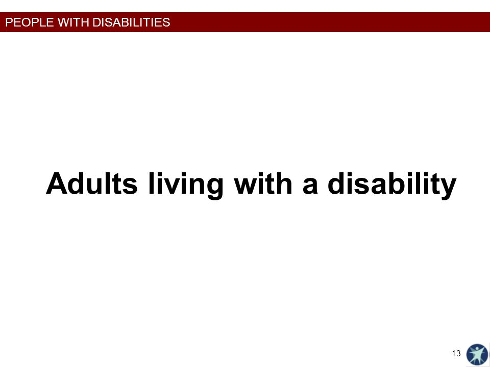 Adults living with a disability
