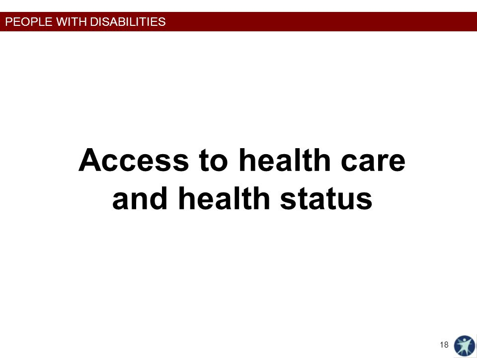 Access to health care and health status