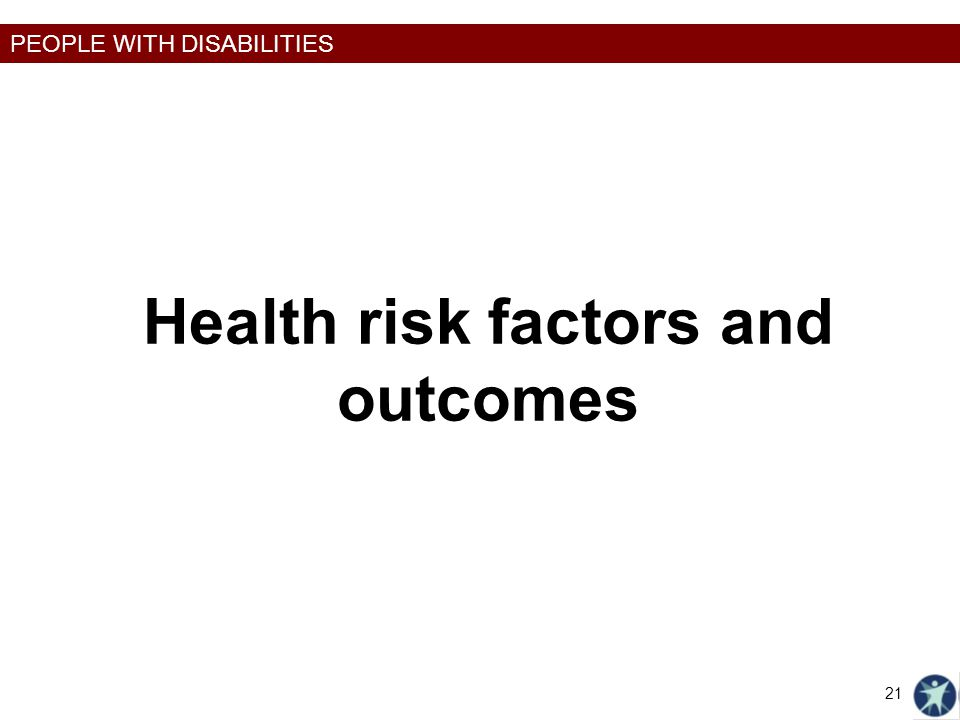 Health risk factors and outcomes