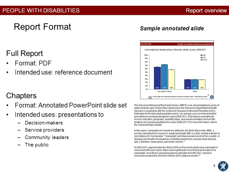 Report Format Full Report Chapters Format: PDF