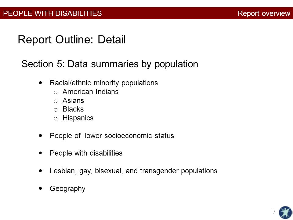 Report Outline: Detail
