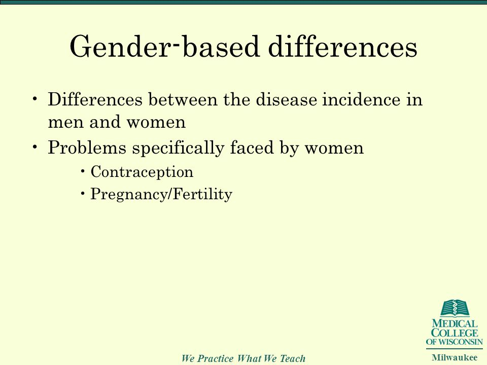 Gender-based differences