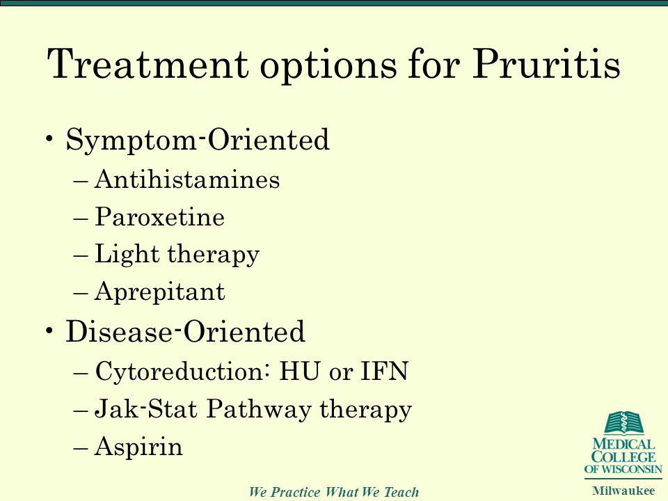 Treatment options for Pruritis