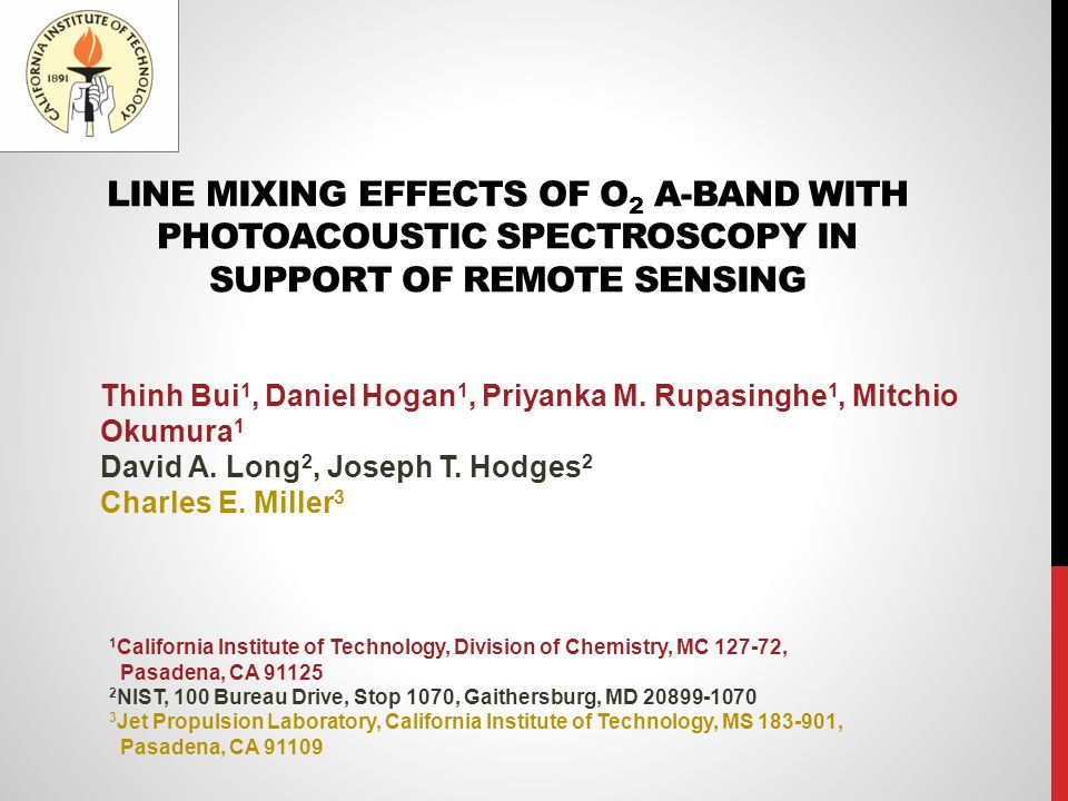 LINE MIXING EFFECTS OF O2 A-BAND WITH PHOTOACOUSTIC SPECTROSCOPY IN SUPPORT OF REMOTE SENSING