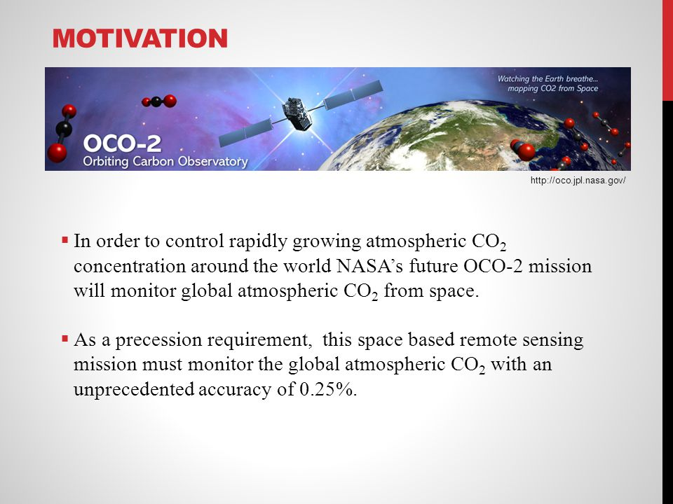 Motivation http://oco.jpl.nasa.gov/