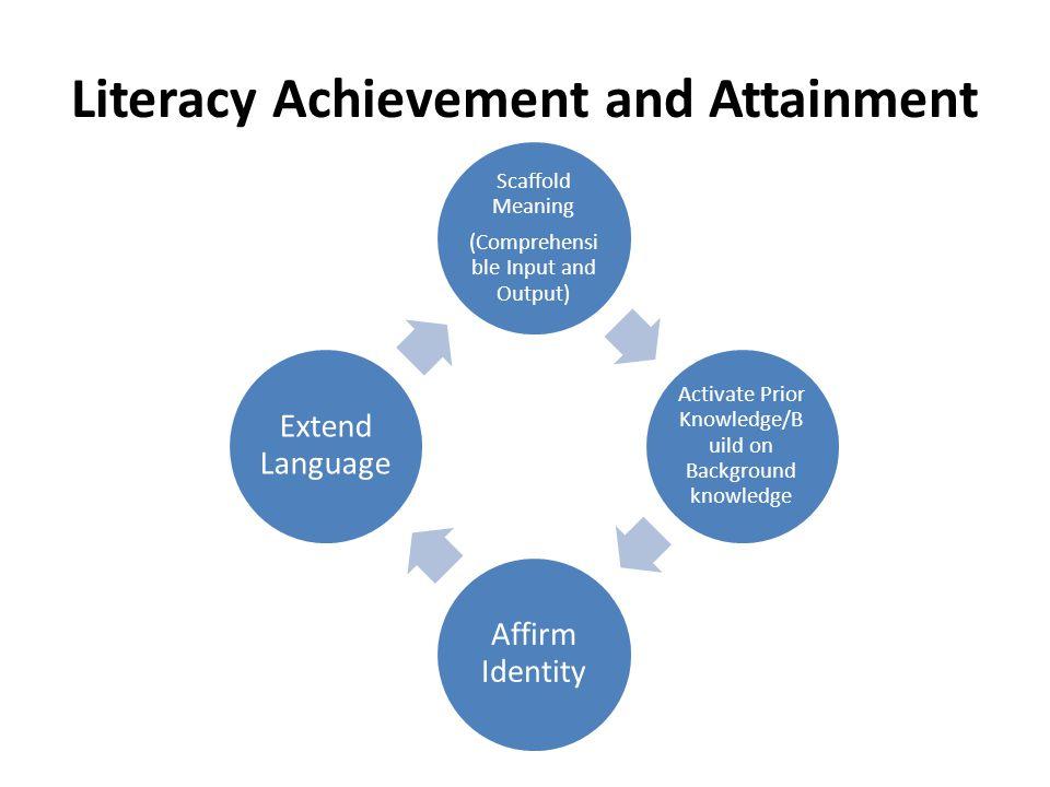 Literacy Achievement and Attainment