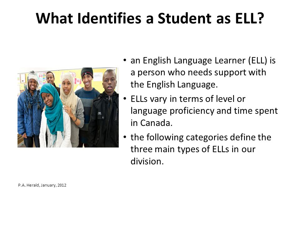 What Identifies a Student as ELL