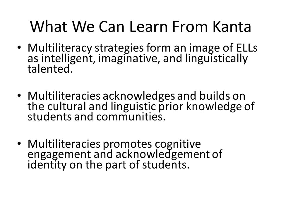 What We Can Learn From Kanta