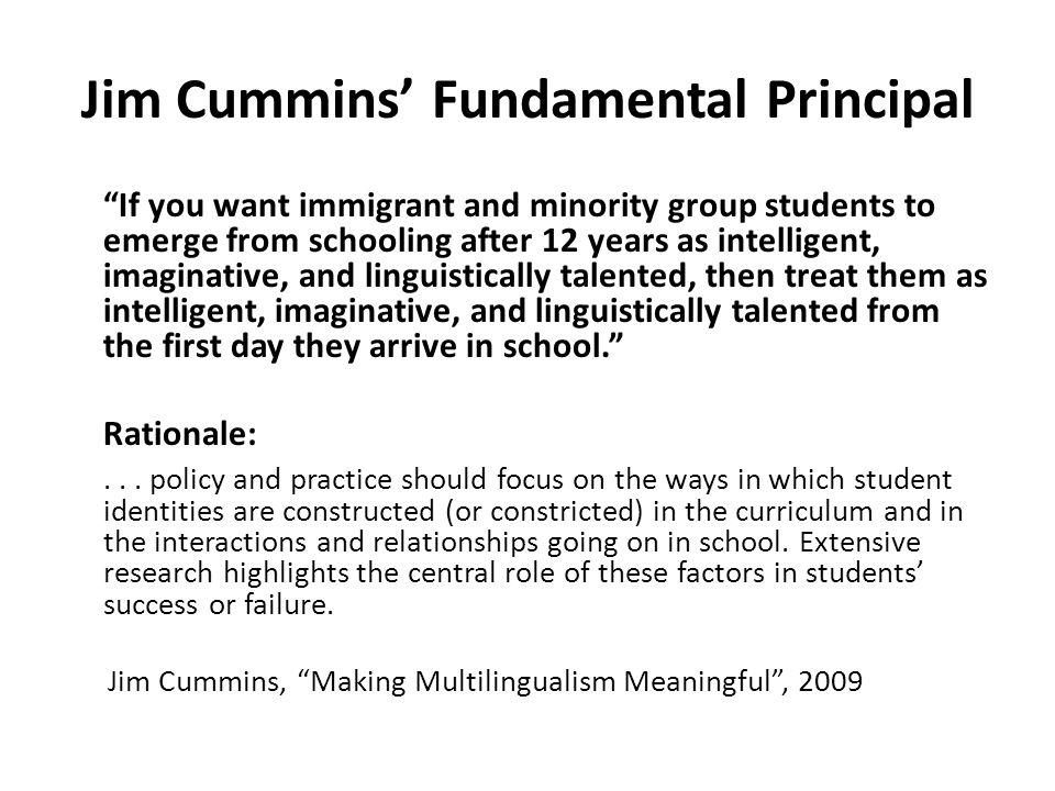 Jim Cummins' Fundamental Principal