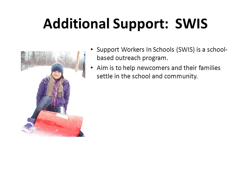Additional Support: SWIS