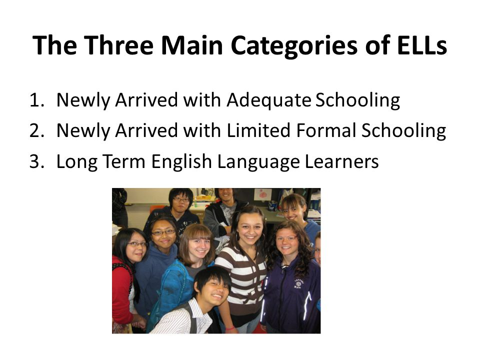 The Three Main Categories of ELLs