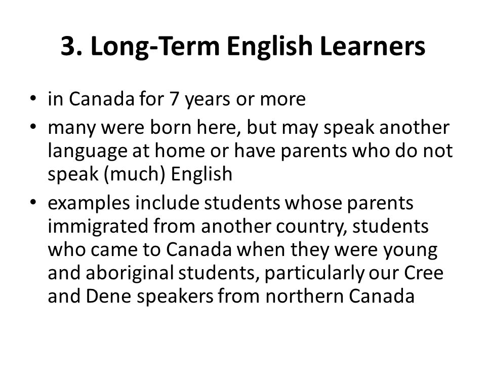 3. Long-Term English Learners