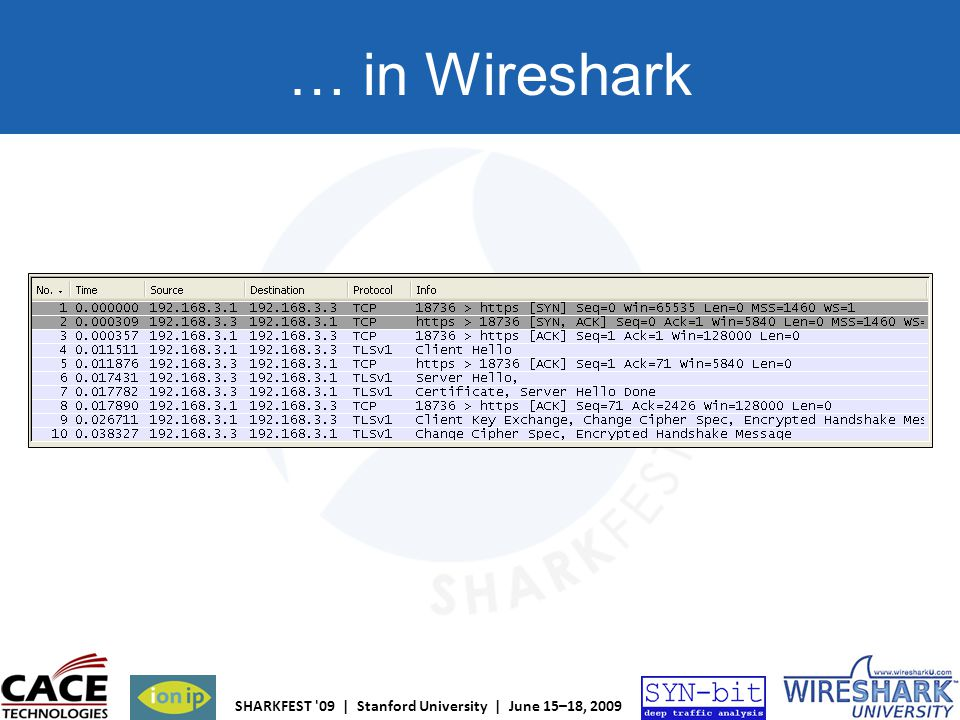 … in Wireshark