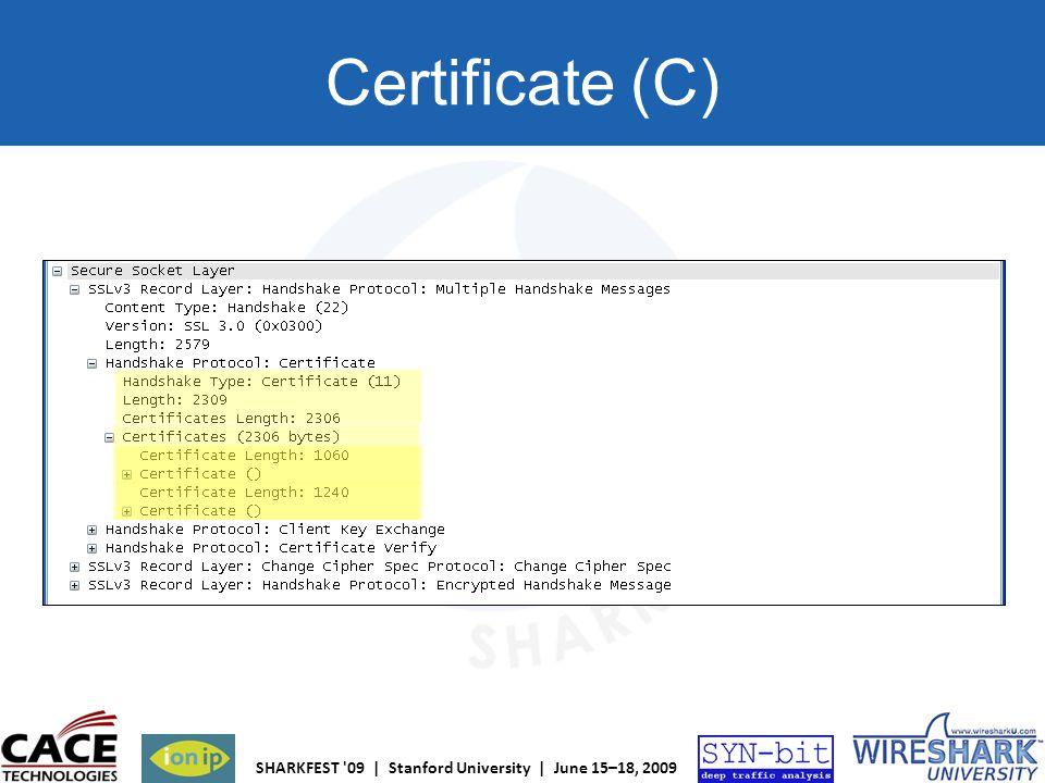 Certificate (C)