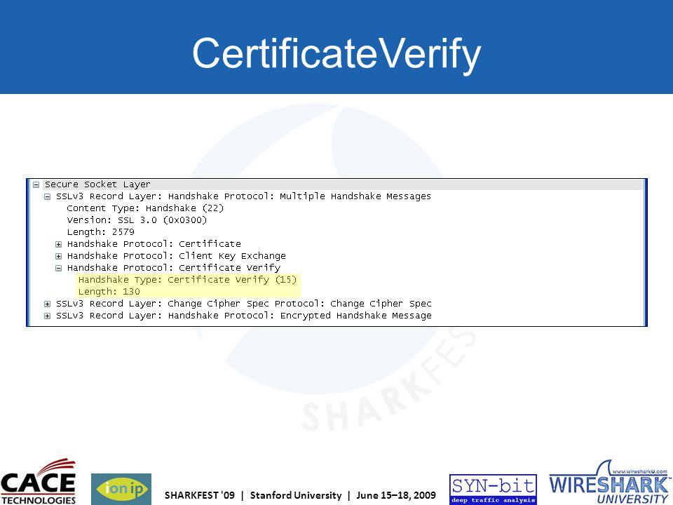 CertificateVerify