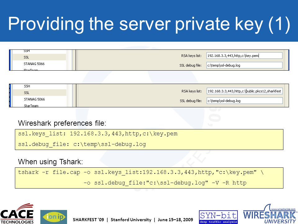 Providing the server private key (1)