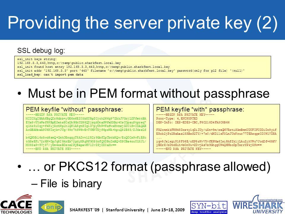 Providing the server private key (2)