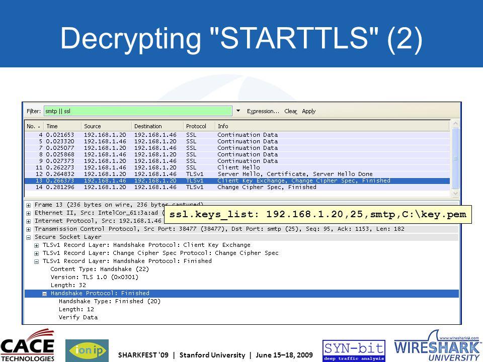 Decrypting STARTTLS (2)