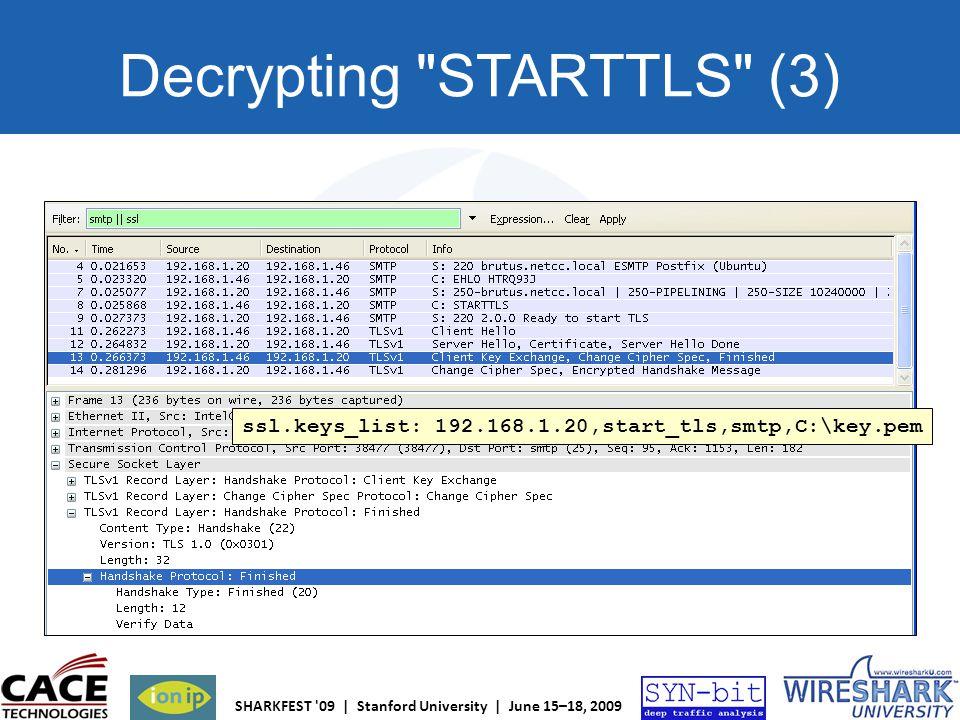 Decrypting STARTTLS (3)