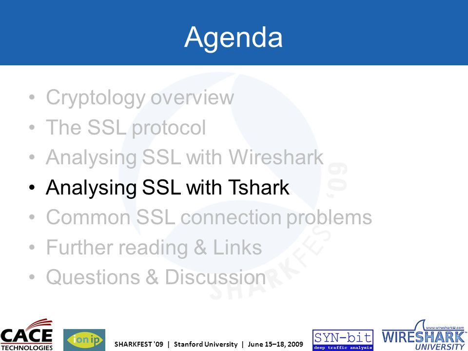 Agenda Cryptology overview The SSL protocol